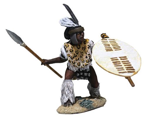 W Britain Anglo-Zulu War 20179 Zulu uThulwana Regiment Attacking low with Assegai