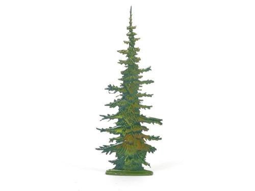 Hornung Miniatures Trees Christmas Pine Tree 13L Flat Metal Hornung Art Scenery