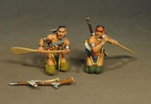 John Jenkins Designs Soldiers 2 Woodland Indian Paddling Monongahela CAN-07