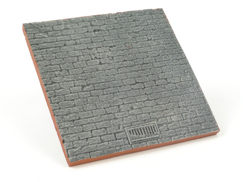 All Diorama Base for vignettes, cobbled street with drain
