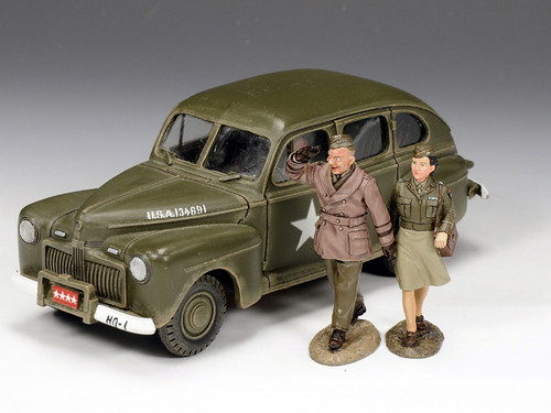 King & Country Toy Soldiers DD154 Eisenhower Staff Car WWII Limited Edition