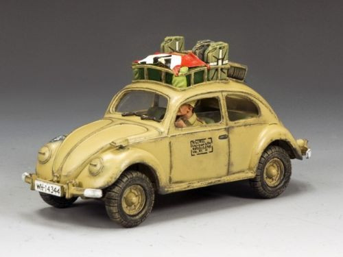King & Country Soldiers AK074 WWII Afrika Korps Volkswagen Collectible