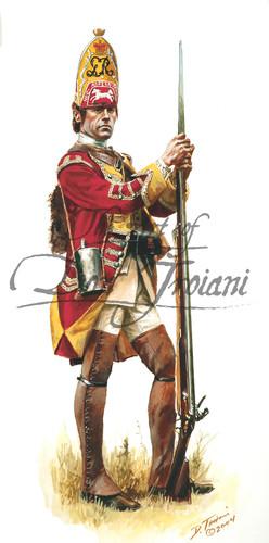 44th Regiment of Foot British Grenadier 1755 - French & Indian War