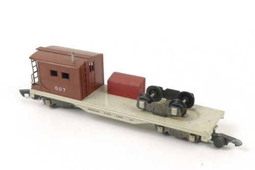 American Flyer A C Gilbert Authentic S Gauge Train 607 Boom & Work Car