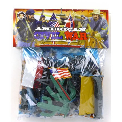 Billy V Toys American Civil War Bagged Plastic Toy Soldiers Set 1/32 Scale