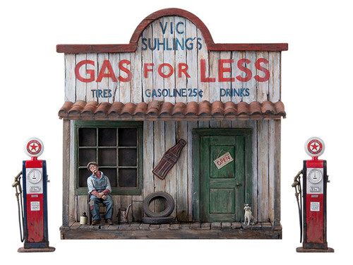 Black Hawk Toy Soldiers Gas Station 1930's Figure BH1206