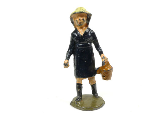 Johillco Toy Soldiers Railway Staff  Girl with Basket #135K