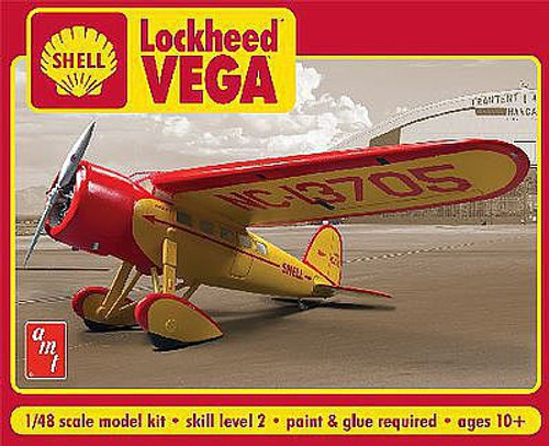 AMT 950 Plastic Models Shell Oil Lockheed Vega 1/48 Scale