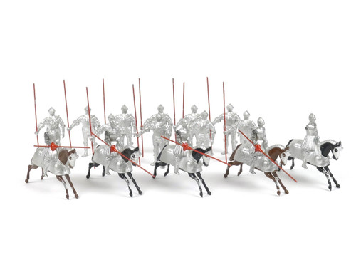 WBritain 1307 16th Century Mounted and Foot Knights in full Tilting Armor of the Period