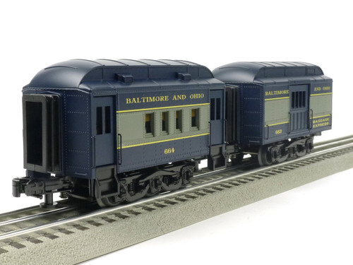 RMT 930231 Ready Made Trains O PEEP B & O Passenger Car Set O Gauge