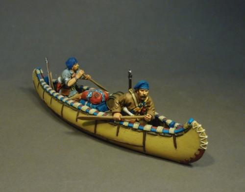 John Jenkins Designs MF-07B French Militia in Canoe Montreal Brigade