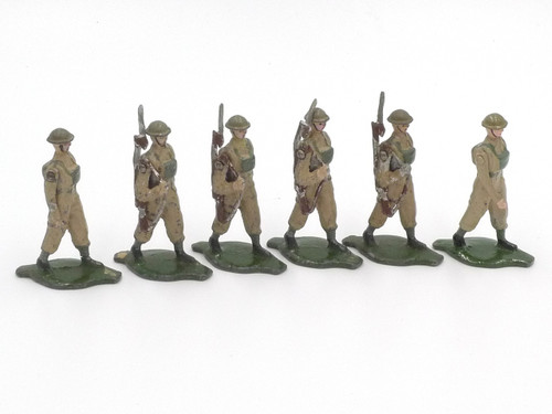 Comet Toy Soldiers British Infantry Steel Helmet Marching