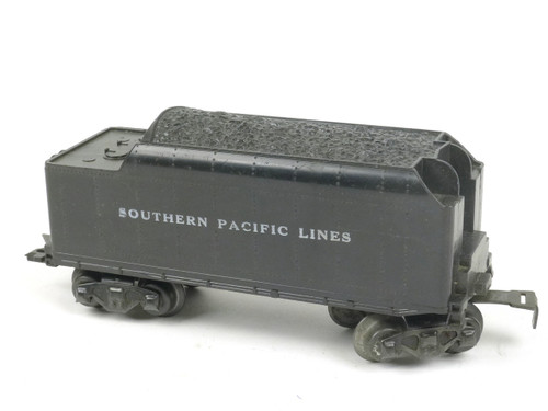 Marx Trains 1951 Tender Southern Pacific Lines 8 Wheel Plastic Black O/O27 Gauge