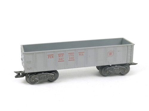 Marx Trains 347100 Pennsylvania Delux 8 Wheel Gondola Silver O/O27 Gauge