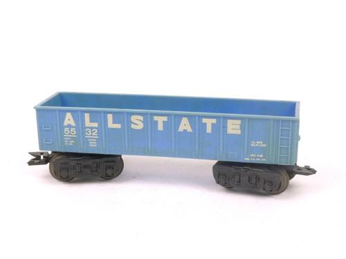 Marx Trains 5532 Allstate Turquoise Gondola O/O27 Gauge