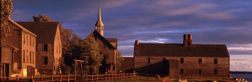 """Images Of The Land® ShelfScapes #1008 New England Village 10"""" x 30"""" Backdrop"""
