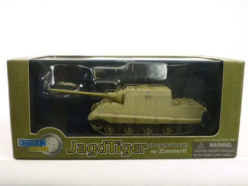 Dragon Armor 60112 WW2 Jagdtiger Porsche With Zimmerit Germany 1945 1/72 Diecast