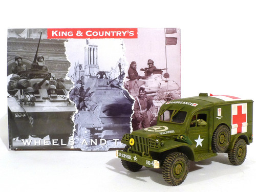 King & Country Set Toy Soldiers Ambulance with Driver BBA037