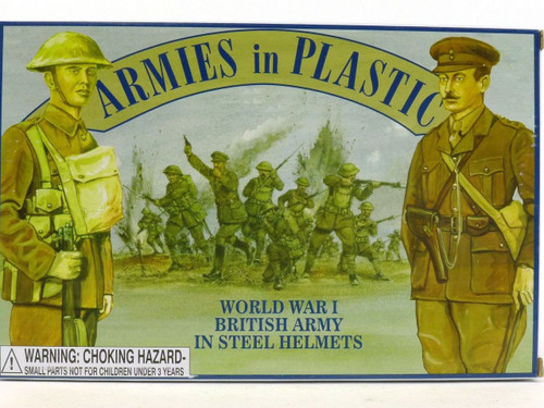 Armies In Plastic World War I British Army In Steel Helmets Toy Soldiers 5406