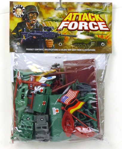 Billy V Toys Assault Attack Force Playset 1/32 Scale Plastic Toy Soldiers