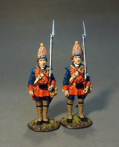 John Jenkins Designs The Raid On St. Francis 1759 The New Jersey Provincial Regiment, 2 Grenadiers At Attention