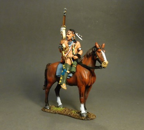 John Jenkins Designs The Raid On St. Francis 1759 Mounted Woodland Indian(A), Tracking