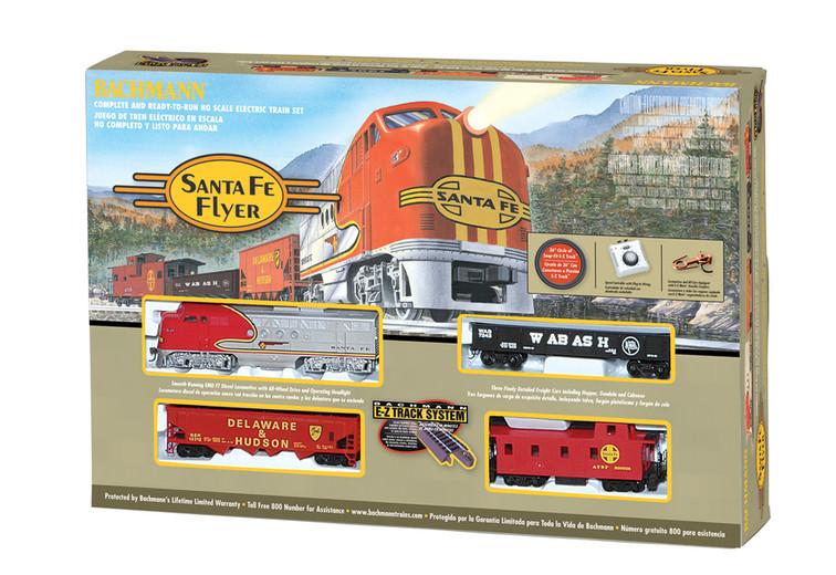 Presenting the Bachmann Train 00647 Santa Fe Flyer HO Scale Model Train Set