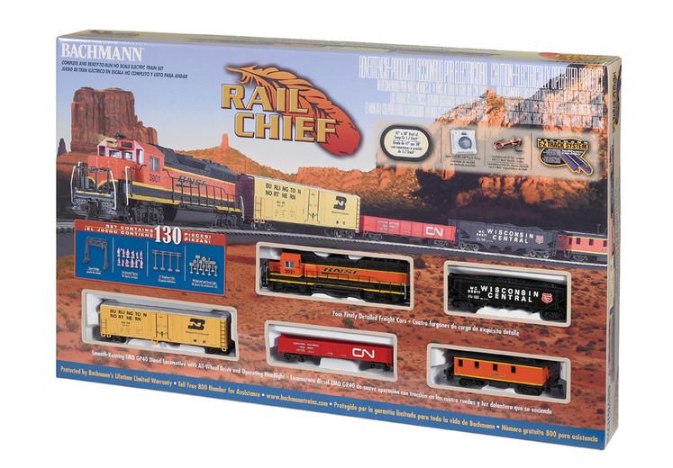 Presenting the Bachmann Trains 00706 BNSF Rail Chief Freight GP40 Set HO Scale