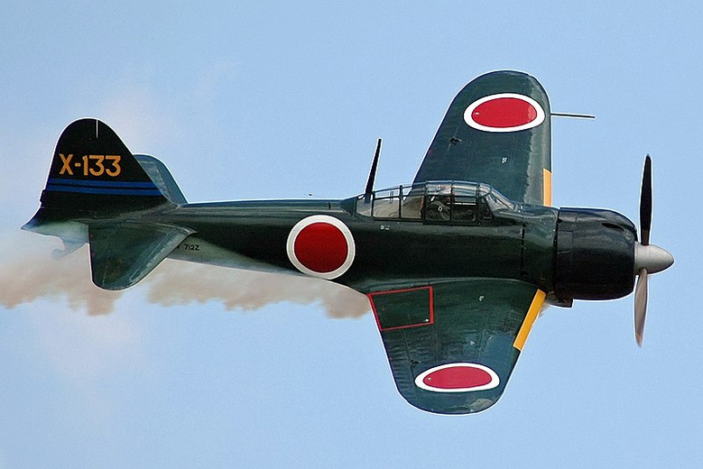 That One Time a Parachuting Pilot Shot Down a Zero Fighter Plane With Nothing but a Handgun