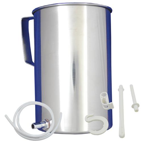 Latex-free Stainless Steel Enema Bucket Kit (2 L)
