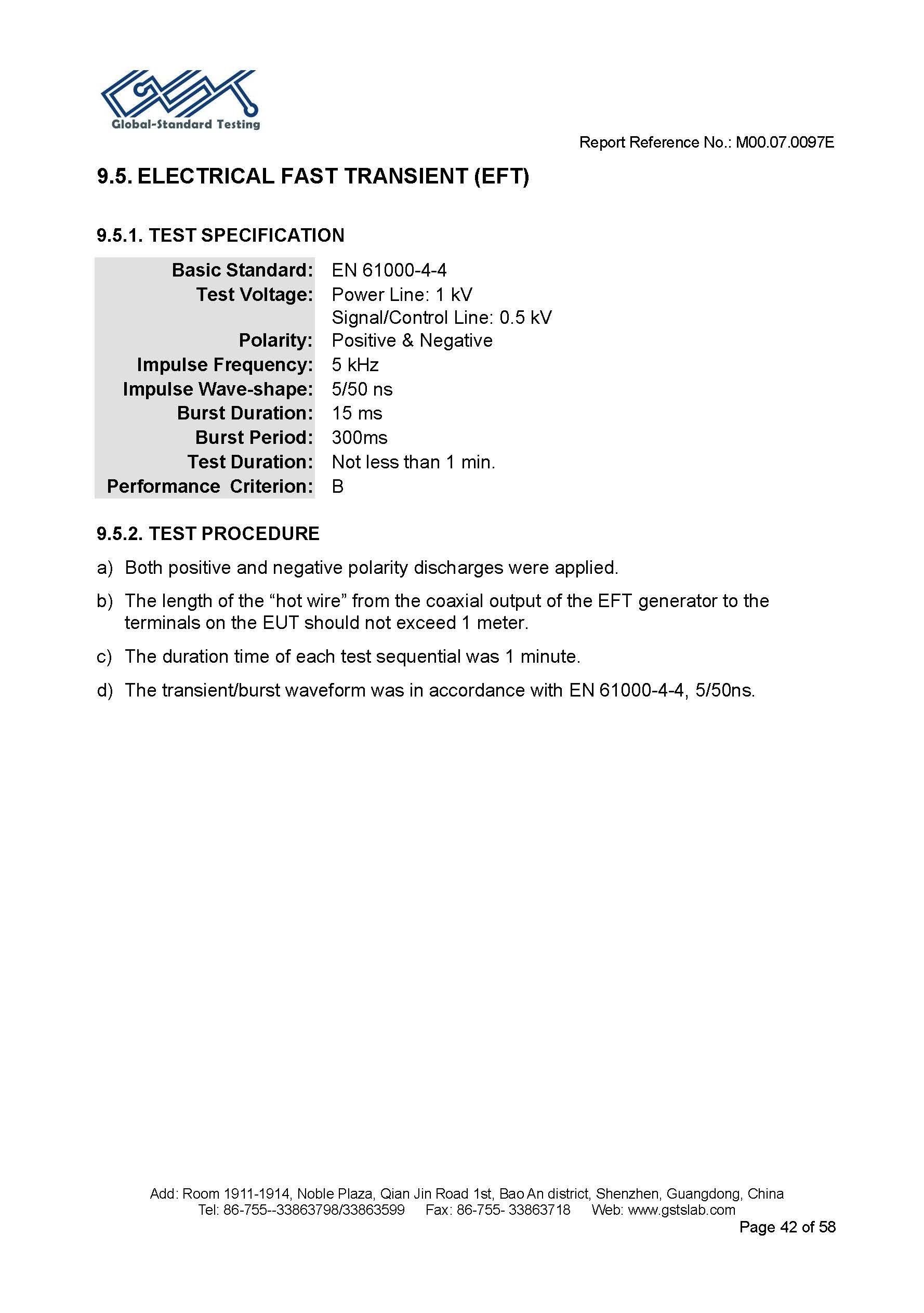 Emc Testing Procedure