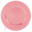 Pink Round Charger Plate, Case of 12