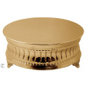 "14"" Goldplate Round Cake Stand, Contemporary"