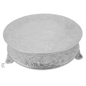"16"" Round Cake Stand, Floral Design"