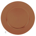 Copper Round Charger Plate, Case of 24