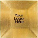 Laser Engraved Gold Square Charger, Case of 12