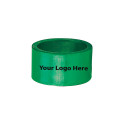 Screen Printed Green Napkin Rings, Pkg/24