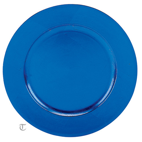 Blue Round Charger Plate, Case of 12