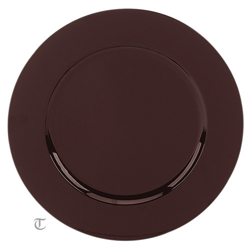 Brown Round Charger Plate, Case of 24