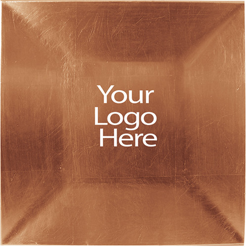 Vinyl Adhesive Copper Square Charger Plate, Case of 12