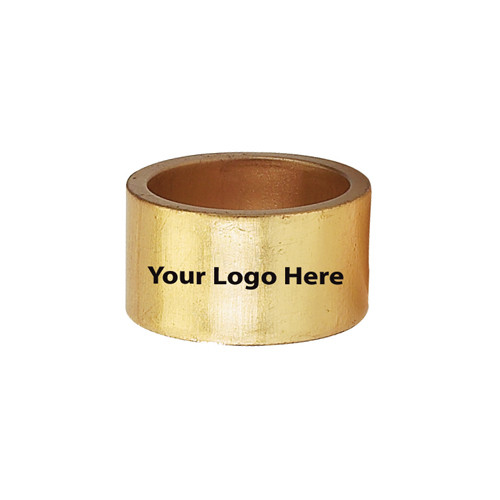 Laser Engraved Gold Napkin Rings, Pkg/24