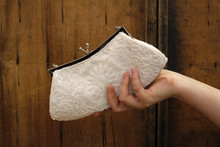 White Beaded Small Clutch