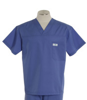 Scrub Med Mens Solid V-Neck Scrub Top Hyacinth (ScrubLite)