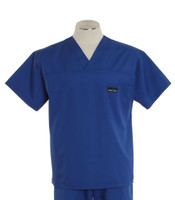 Scrub Med Mens Solid V-Neck Scrub Top Pacific Blue (ScrubLite)