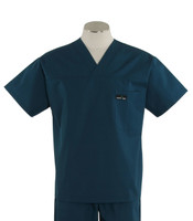Scrub Med Mens Solid V-Neck Scrub Top Spruce