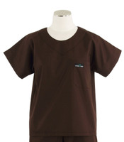 Scrub Med Womens Solid Scrub Top Dark Chocolate