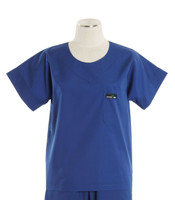 Scrub Med Womens Solid Scrub Top Pacific Blue (ScrubLite)