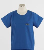 Scrub Med Womens Solid Scrub Top Skipper Blue