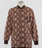 Scrub Med Womens Print Crew Neck Lab Jacket Garden Walk