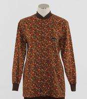 Scrub Med Womens Print Crew Neck Lab Jacket Panzy Pazazz